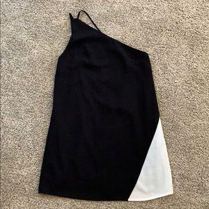 TOBI - one shoulder dress / white strip on side